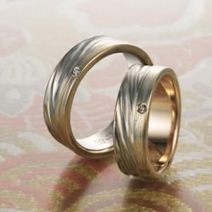 人とかぶらない和風の結婚指輪なら杢目金屋