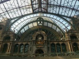 ベルギーのアントワープ中央駅