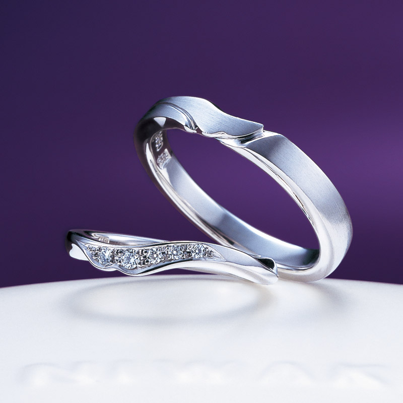 niwaka唐花NIWAKA俄結婚指輪綾香水嶋ヒロの結婚指輪日本の古典模様指輪日本伝統の柄和風指輪