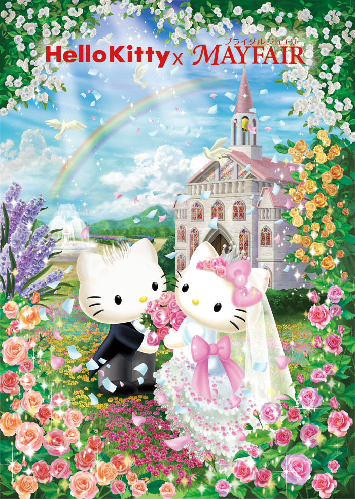 Hello Kitty x MAYFAIRキティちゃんファンにはたまらない結婚指輪婚約指輪マリッジリングエンゲージリング