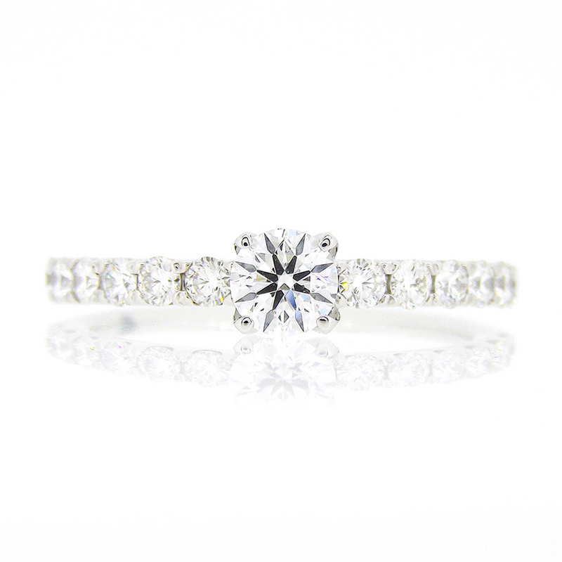 """d line star"" diamond harf eternity ring"