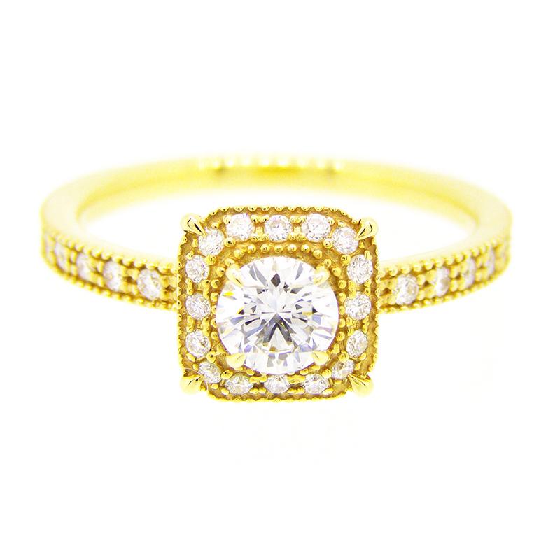 "2013-14limited model""bruges"" millgrain diamond surround ring"