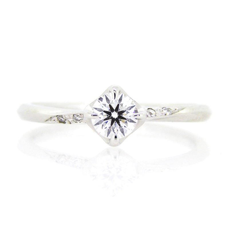 """vega"" side pave setting diamond ring"