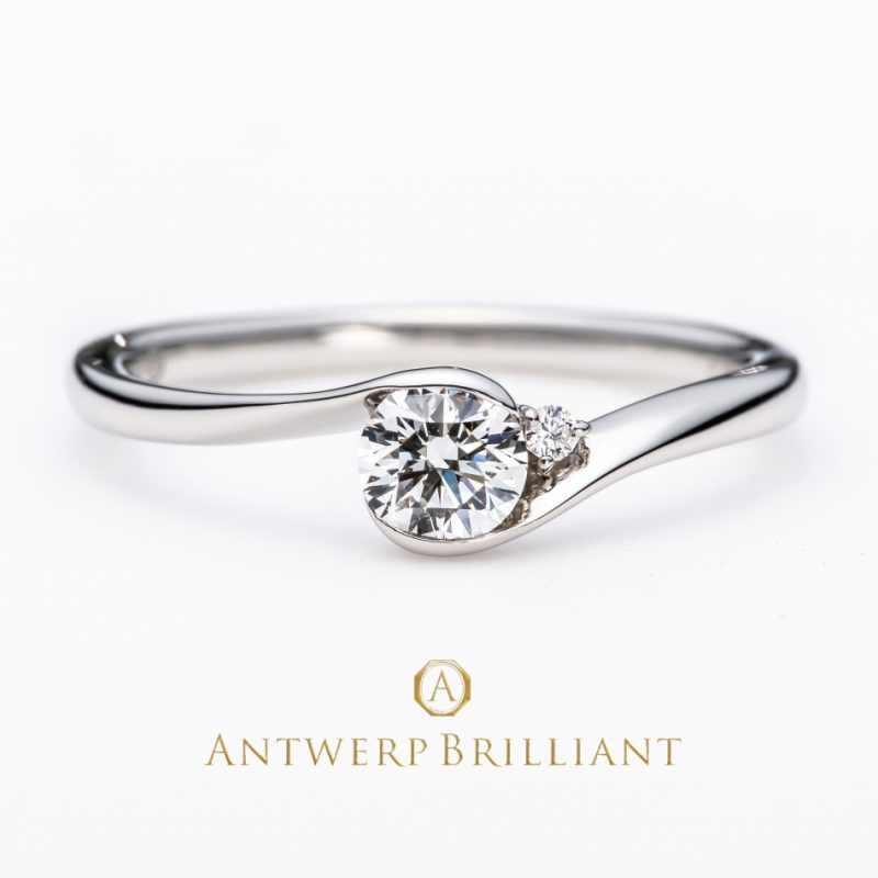 """""""full moon"""" diamond rim setting ring"""