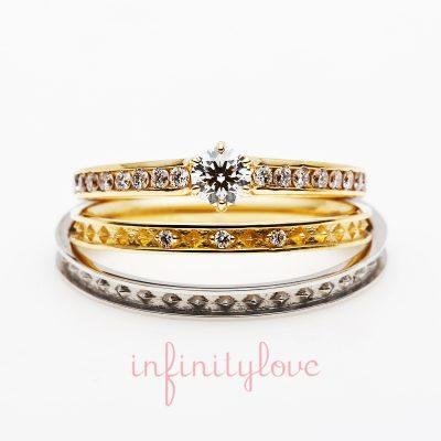 新潟でキラキラ華やか可愛い結婚指輪と婚約指輪はInfinityLoveのJoin