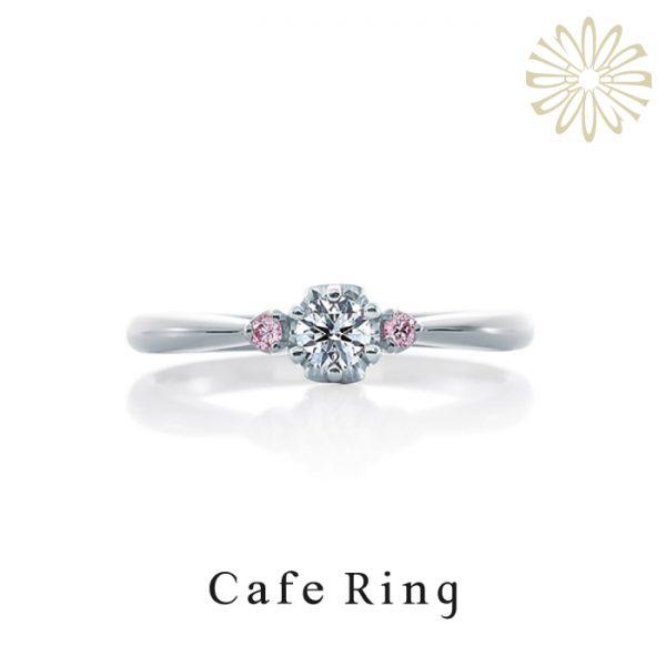 CafeRing カフェリング マカロン カワイイ 婚約指輪 ピンクダイヤモンド ピンクサファイア お菓子 スィーツ スィーツモチーフ