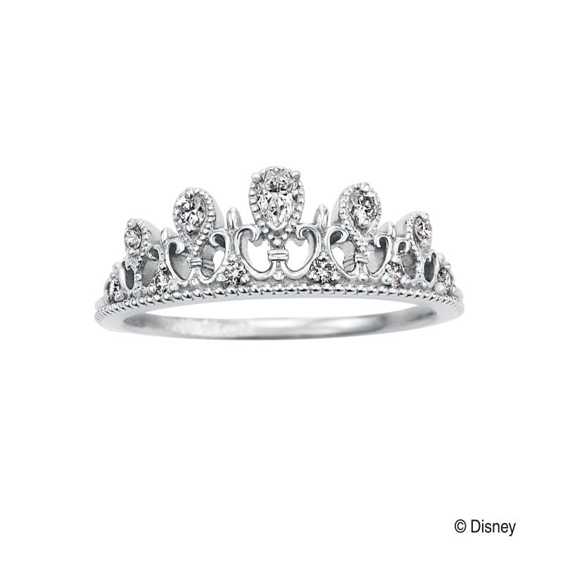 Princess tiara Pear-shaped