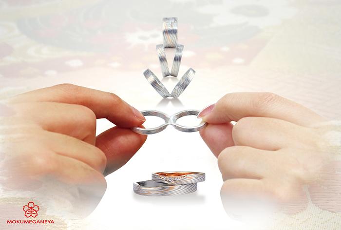 つながるカタチ 杢目金屋 新潟結婚指輪 新潟婚約指輪