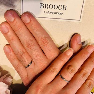 サプライズプロポーズで、結婚指輪マリッジリングエンゲージリングはNIWAKA俄ニワカにわかのせせらぎに