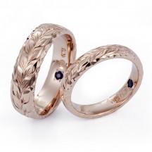 ハワイアンジュエリー結婚指輪 鍛造 職人手彫りマカナMAKANA 新潟人気のハワジュ