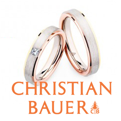 太くてカッコイイ丈夫なドイツのジュエリーはコンビネーションカラーの結婚指輪