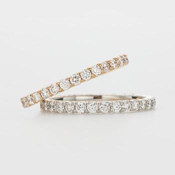 エタニティリング ダイヤモンド 全周デザイン 婚約指輪