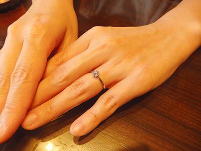 新潟 結婚指輪 シンプル BROOCH エンゲージリング