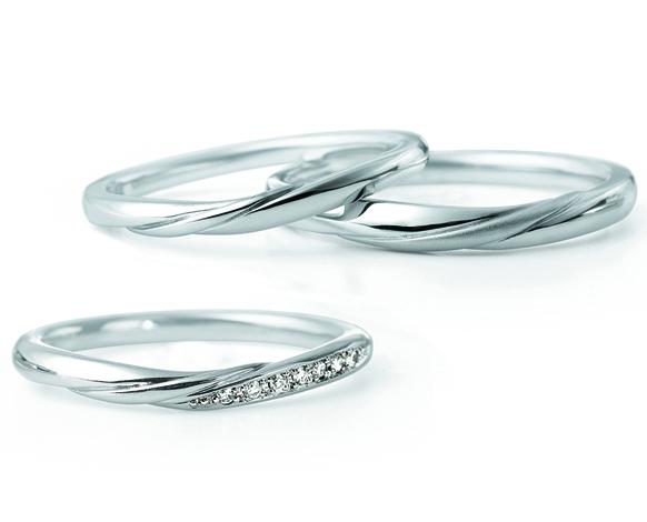 LUCIEルシエRippleリップルはシンプルで着け心地が良く指が綺麗に見える新潟で人気の結婚指輪婚約指輪です