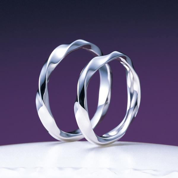 新潟結婚指輪シンプルウェーブNIWAKA俄にわか