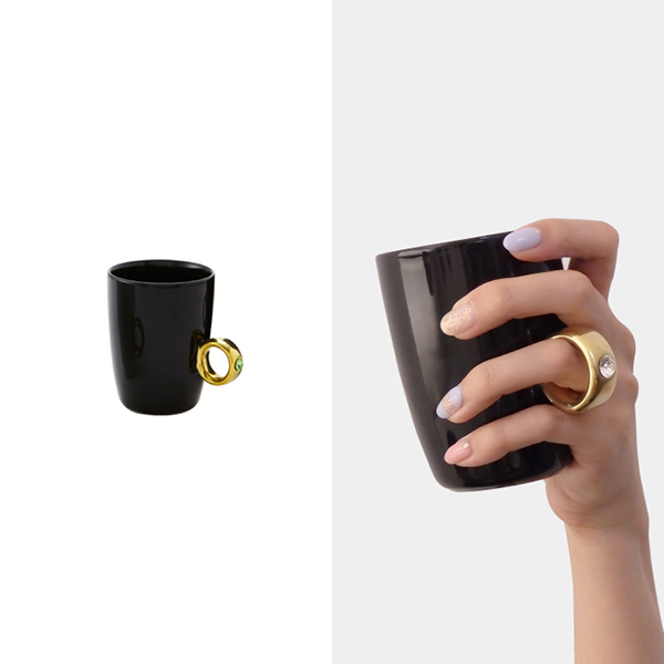 Cup ring Black