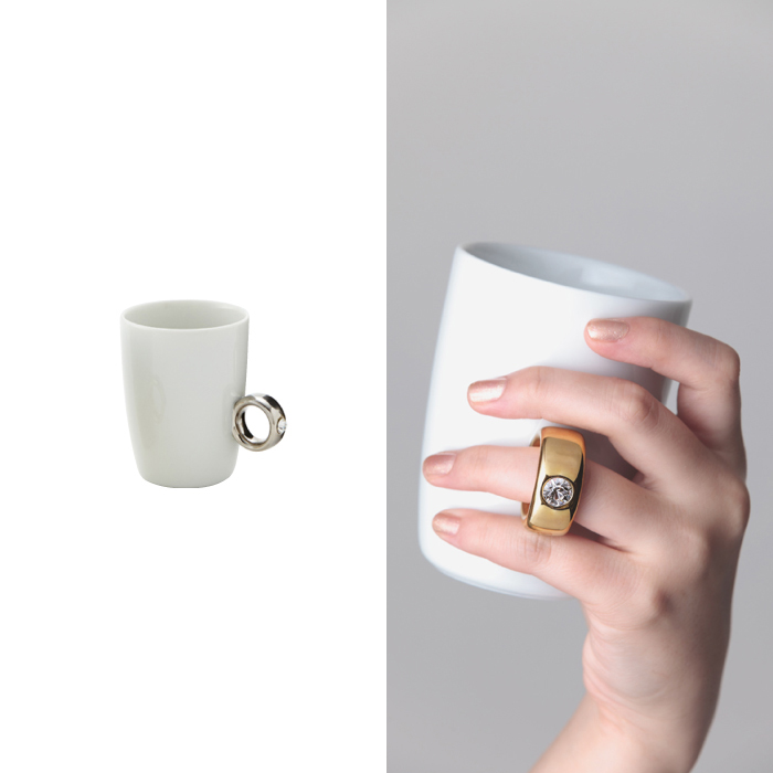 Cup ring White