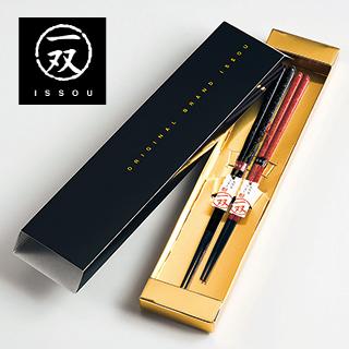 京都に本店がある高級箸専門店「一双」の夫婦箸