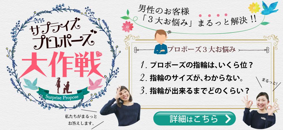 サプライズプロポーズの指輪「3大お悩み」まるっと解決!!