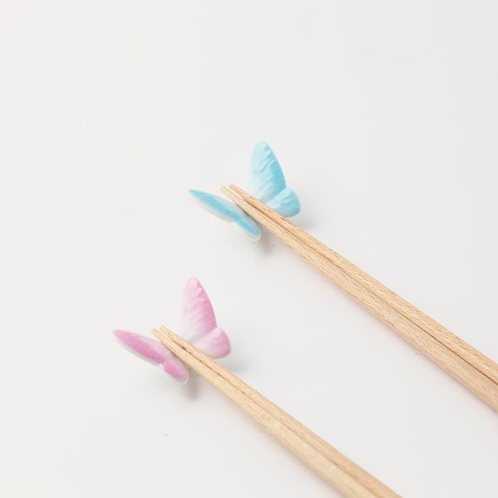 バタフライ箸置き&箸使用イメージ