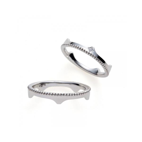 結婚指輪新潟市カワイイ個性的シンプルかっこいいプラチナゴールド