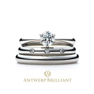 """Evening Star"" Solitaire Diamond Ring Set"