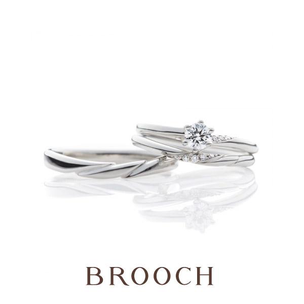 新潟で可愛いおしゃれなデザインの結婚指輪をお探しならブローチで取扱いブリッジのゆきどけ