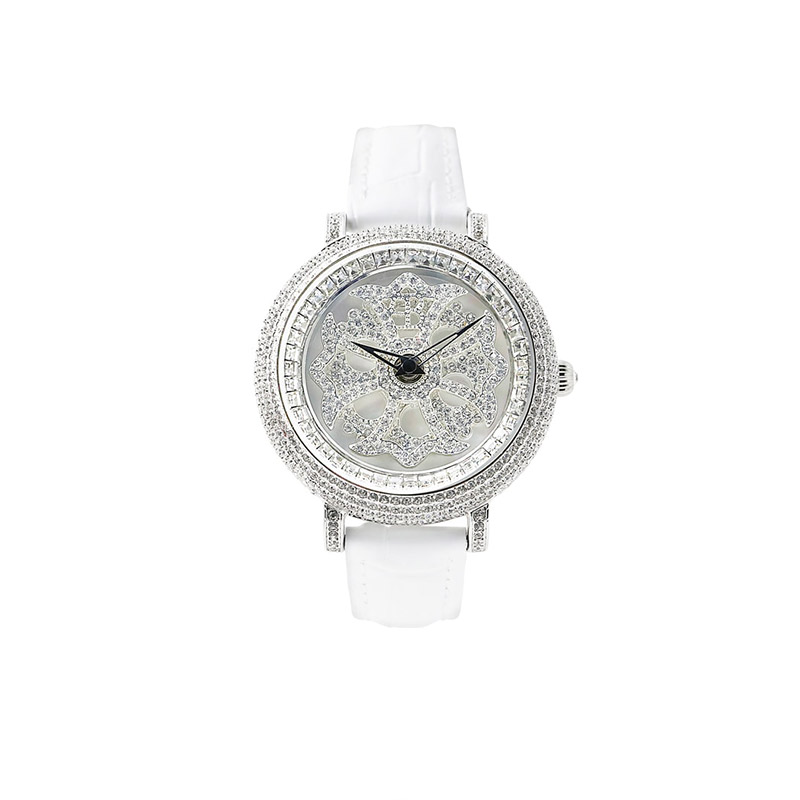LILY 40MM WHITE x SILVER <革ベルト>