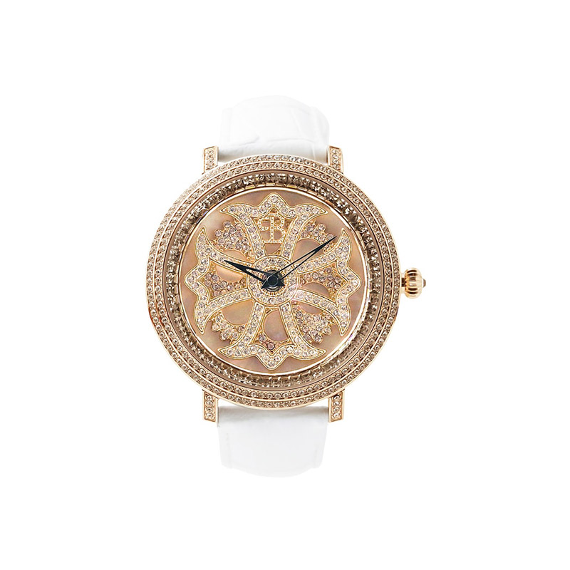 LILY 46MM WHITE x GOLD <革ベルト>
