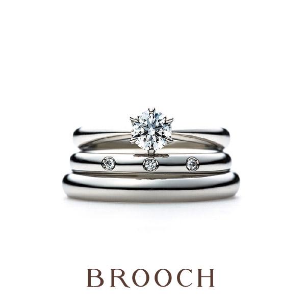 シンプル王道可愛い結婚指輪婚約指輪をお探しならアントワープブリリアントのワンハーティーローズがおすすめ!新潟での取扱いはブローチだけ