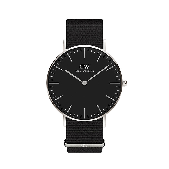 36mm Classic Black CORNWALL / SILVER
