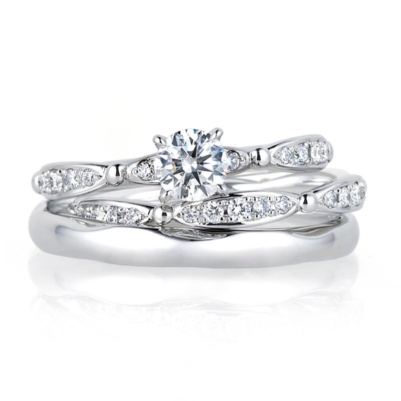 新潟 結婚指輪 婚約指輪 マリッジリング エンゲージリング LUCIE ルシエ 俄 NIWAKA シンプル かわいい アリア Aria BROOCH ブローチ