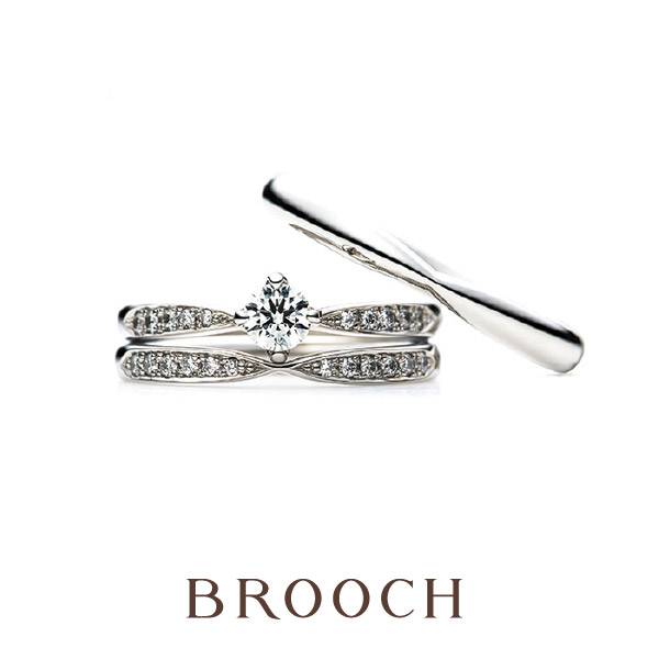 キラキラでかわいい結婚指輪