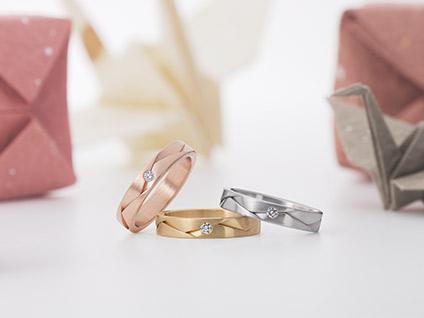 新潟 結婚指輪 婚約指輪 マリッジリング エンゲージリング シンプル かっこいい 太い 太め 個性的 日本 折り紙 おりがみ FURRER-JACOT フラー・ジャコー BROOCH ブローチ