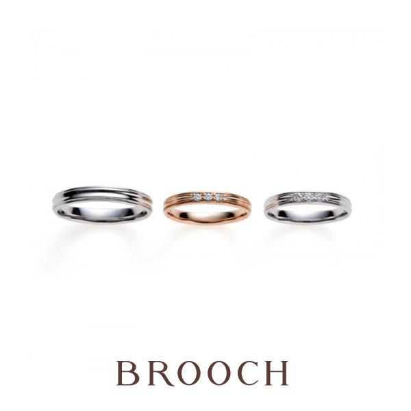 新潟でシンプルおしゃれな日常使いしやすい結婚指輪ならブリッジがおすすめ新潟ではブローチのみ取り扱い