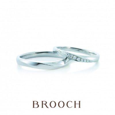 今人気の綺麗めデザインの結婚指輪ならカフェリングのウイ