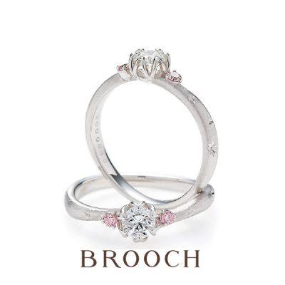 シンプル王道婚約指輪 新潟で唯一取扱いのあるBROOCHブローチにあるBRIDGEブリッジ に決まり
