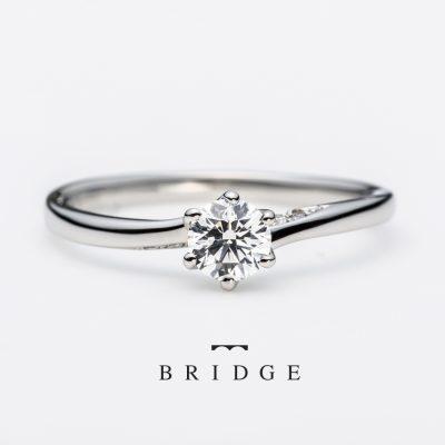 新潟で婚約指輪をお探しならプレ花嫁に人気のブリッジ王道でシンプルなデザインが注目