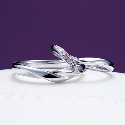 新潟でかわいいフェミニンな結婚指輪を探すならブローチで取り扱いのある俄の初桜が今の季節にもとってもぴったりでおすすめ