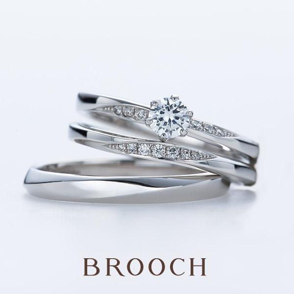 新潟でかわいい自然な形の結婚指輪ならinfinityloveはブローチのみの取り扱い