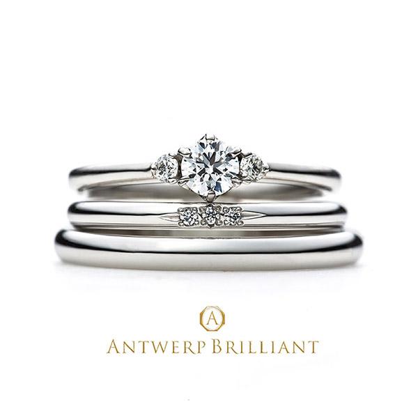 ダイヤモンドが輝く穂sぽ美可愛い結婚指輪はANTWERP BRILLIANT