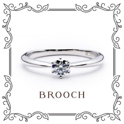 BROOCHエンゲージリングフェア対象リングに誕生石セッティングプレゼント