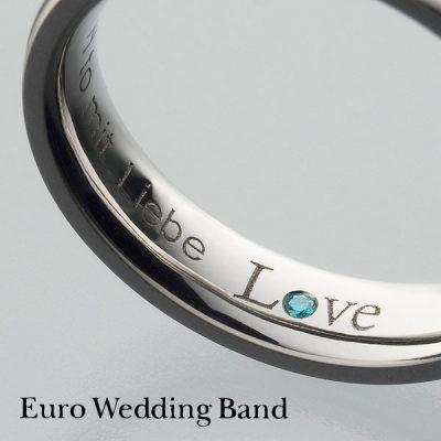 新潟でかっこいい鍛造の結婚指輪を探すならブローチのユーロウエディングバンド