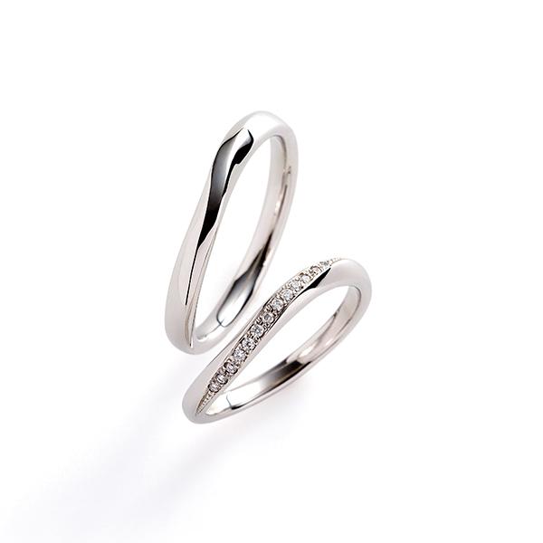 新潟でウエーブのダイヤモンドにこだわった結婚指輪ならイノーベ