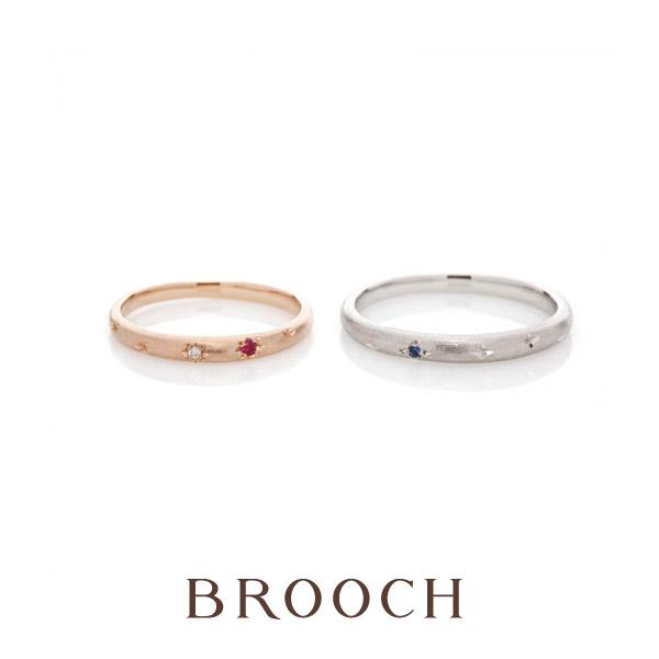 新潟で星モチーフの結婚指輪ならかわいいブリッジの指輪がおすすめ