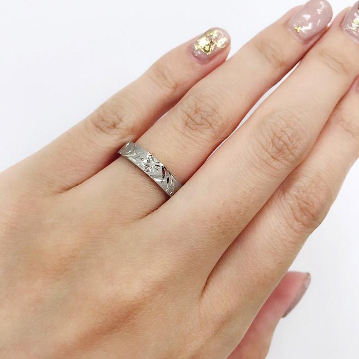 新潟で手彫りで太くてカッコイイ結婚指輪はにわかのかしょうの彫り
