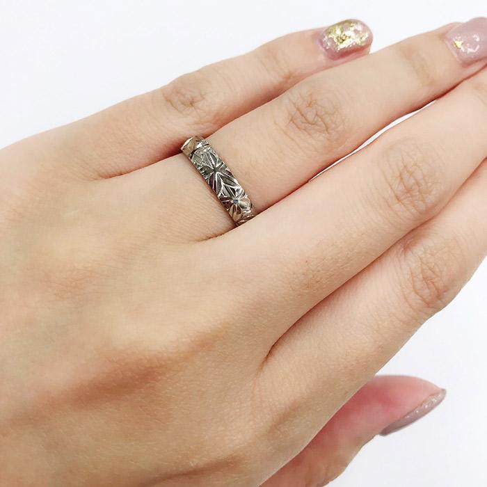 にわかの手彫りのマリッジリングは新潟のカップルに人気