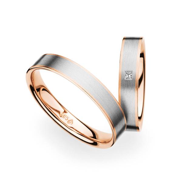 結婚指輪婚約指輪新潟市カッコいい幅広鍛造リングCBクリスチャンバウアー