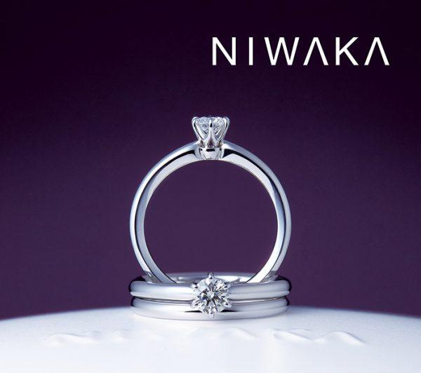 俄のシンプルな婚約指輪