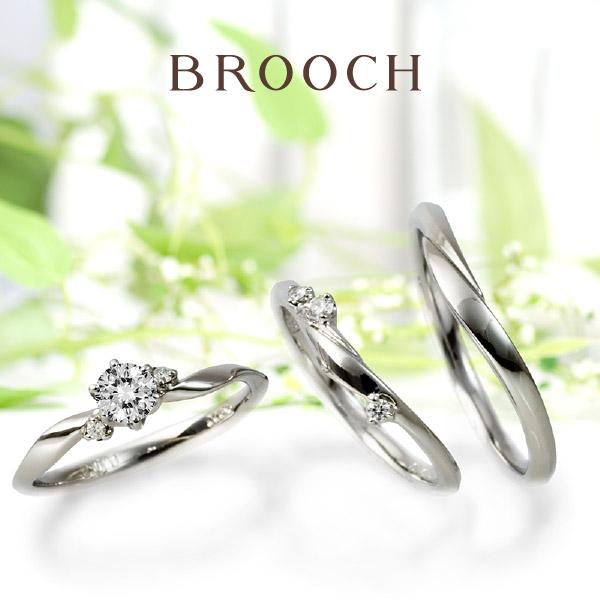 可愛い花冠デザインで大人女子に人気の婚約指輪結婚指輪